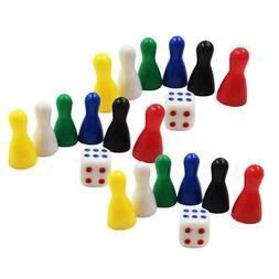 3 Set Colorful Chessman D6 Dices RPG Party Club Supplies Kid