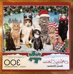 Buffalo Games 300 Piece Jigsaw Puzzle Cats Kittens Holiday
