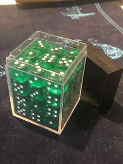 36-Count Mini Green Dice for Card/Board Games - CHESSEX Dice