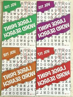 4 Large Print Word Search Puzzles Book Lot Word-Find Games B