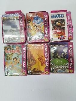 6 NEW Sega Game Gear Games W/Crushed Boxes Aladdin,battle,Li