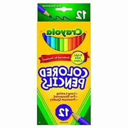 Crayola 68-4012 Colored Pencils, Long, 12-Count, Pack of 4,
