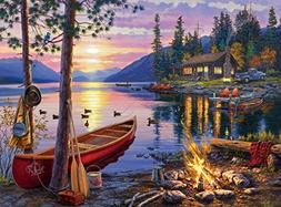 Buffalo Games - Darrell Bush - Canoe Lake - 1000 Piece Jigsa