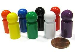 Koplow Games Set of 8 Ball Pawns 30mm Peg Pieces for Board G