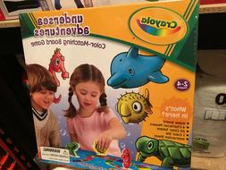 New Crayola Undersea Adventures Color-Matching Board Game Ag