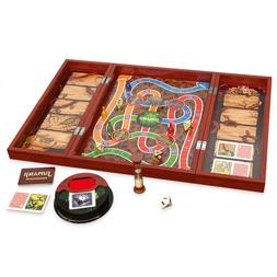 New JUMANJI Board Game Cardinal Edition In Real Wood Wooden