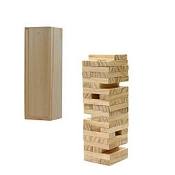 WE Games Wood Block Stacking Tower that Tumbles Down When yo