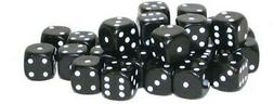 Warlord Games Accessories: 30 Black D6 10mm Dice