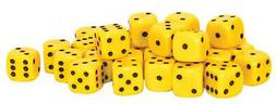 Warlord Games Accessories: Pack of 30 D6 10mm Dice - Yellow