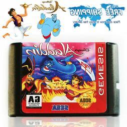 Aladdin Cartridge Game For Sega Genesis Mega Drive 16bit USA