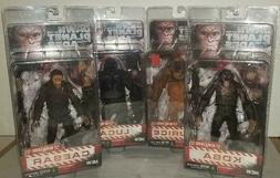 AUTHENTIC NECA DAWN OF THE PLANET OF THE APES 4 FIGURES LOT