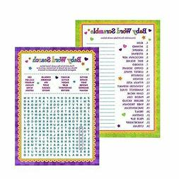 Baby Shower Word Games - Word Search & Word Scramble Gender