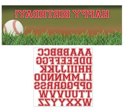 Baseball Party Banner Hanging Decorations Game Sports Night