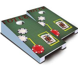 BLACKJACK Poker Casino Gambling TABLETOP Cornhole Boards Gam