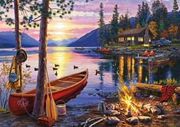 300Piece Buffalo Games Canoe Lake by Darrell Bush Jigsaw Puz