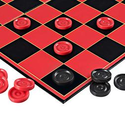 checkers game with super durable board indoor