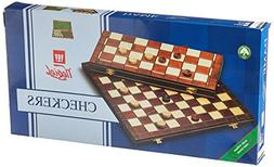 Checkers Set In Folding Wooden Case 100 Playing Field 15.5 T