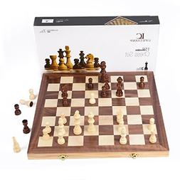 Chess Sets For Adults And Kids With Large Folding Wooden Gam