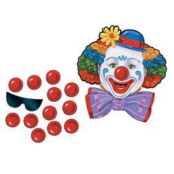 Circus Clown Game Kid Activity Pin Nose Hanging Decor Carniv