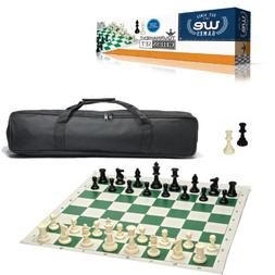 WE Games Complete Tournament Chess Set – Plastic Chess Pie