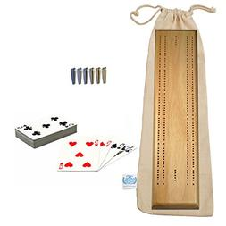 WE Games Deluxe Competition Cribbage Set - Solid Wood Sprint