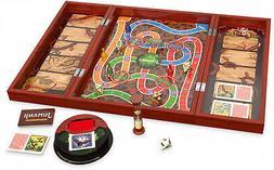 Deluxe Jumanji Classic Retro Board Game Real Wooden Box Toys