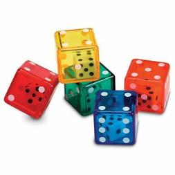 Dice In Bucket, Math Toy, Manipulative, Set Of 72, Ages 3+ O