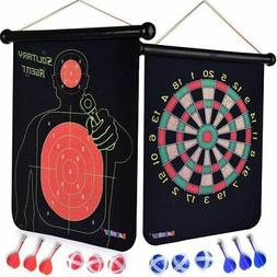 double sided dart board game toy