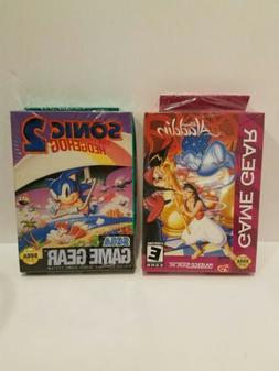 Sega Game Gear 2 Game Lot Sonic/Aladdin New