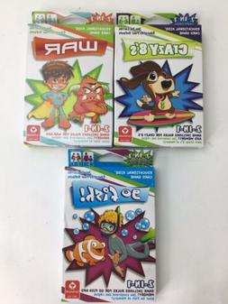 Kids Card Games Educational  GO FISH, CRAZY 8's, And WAR