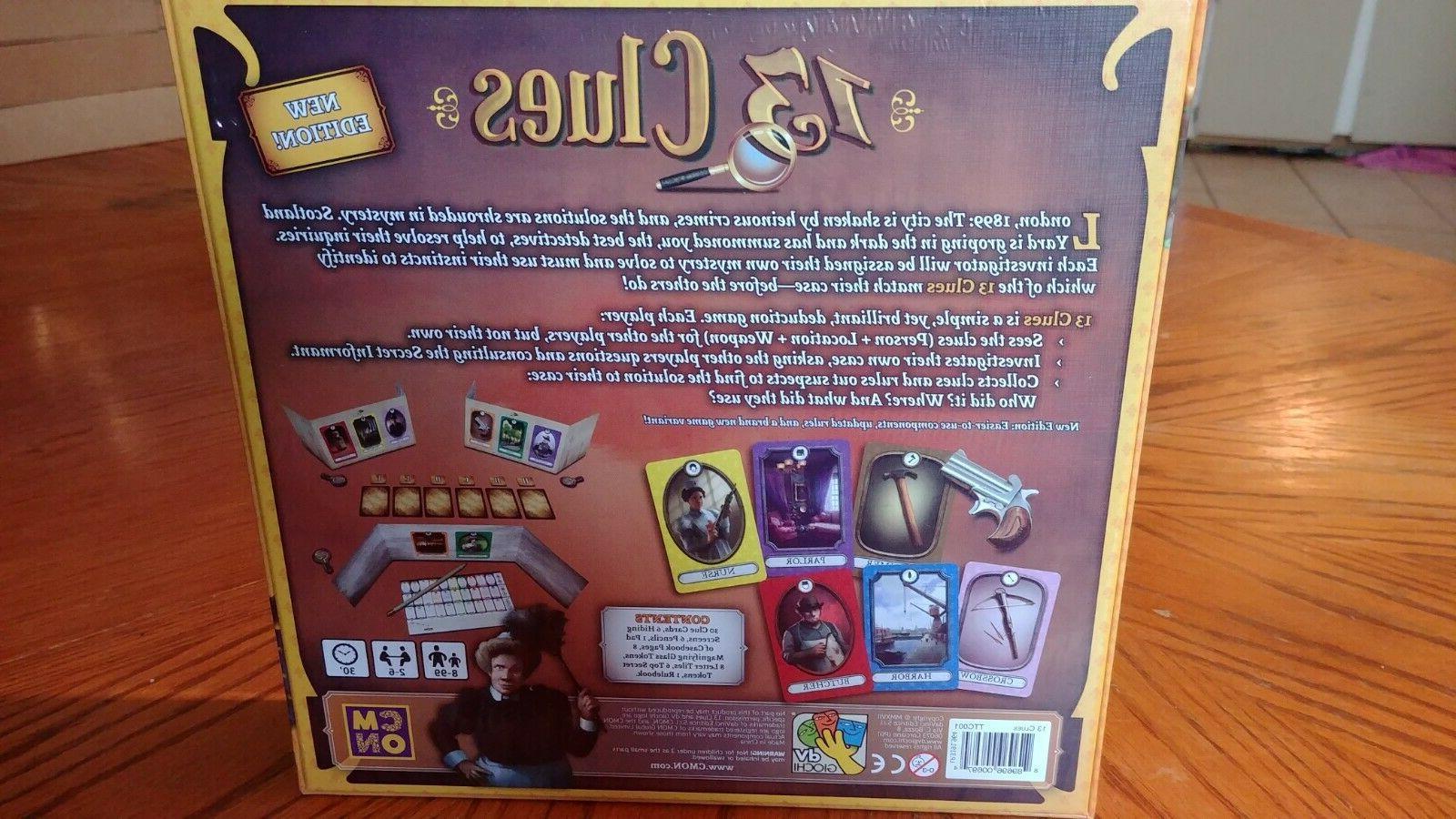 13 CLUES CMON GAMES