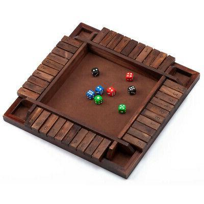4-Players Shut Box Board Drinking Porch Games