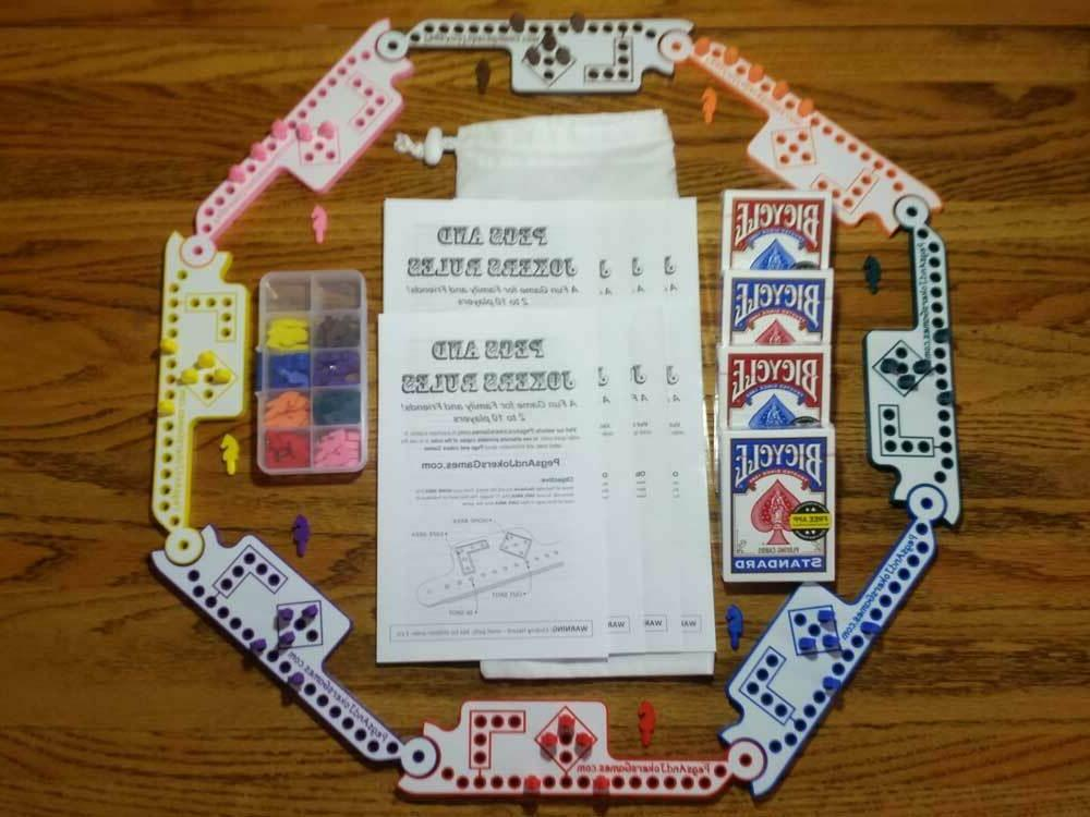 2-8 Player Pegs and Jokers or Marbles NEW American Made in U