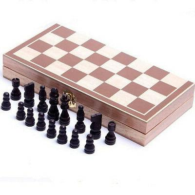 New 30*30cm Standard Game Vintage Wooden Chess Foldable Great Gift