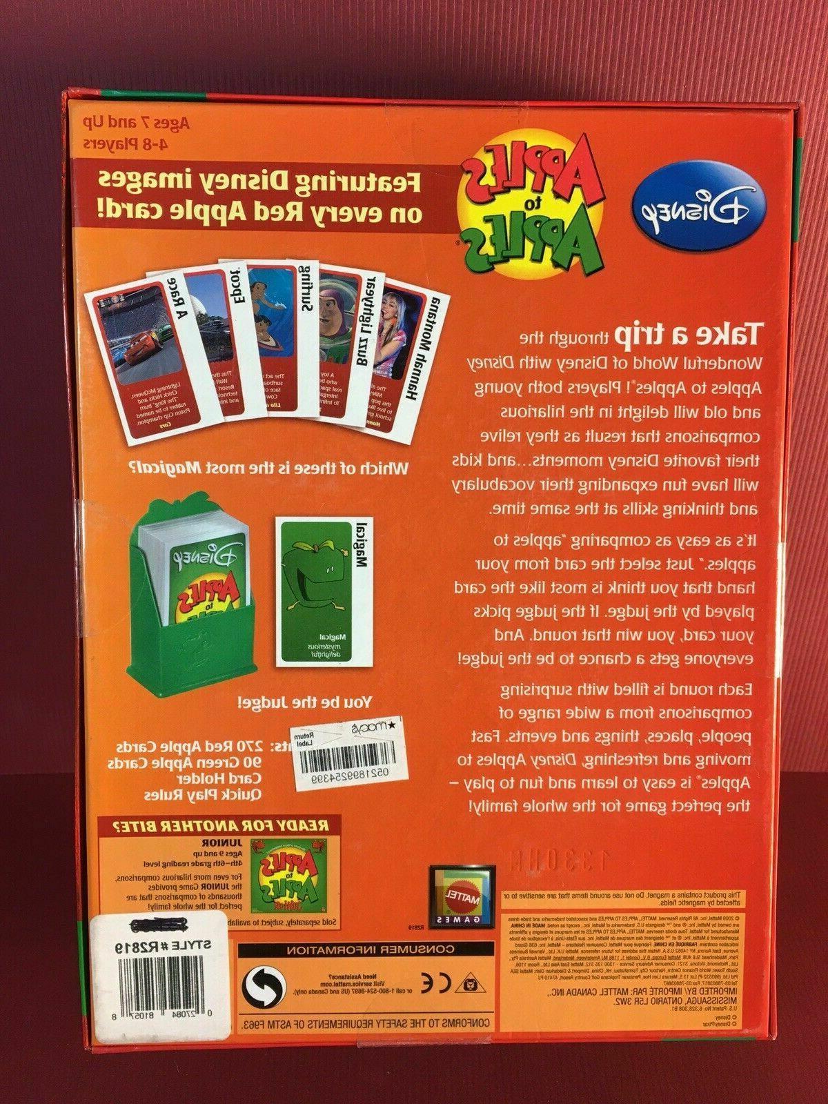 DISNEY APPLES Family Board Game~New in Box