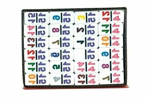Board Games Dominoes set 15 Color Number Tile Toys White Dom