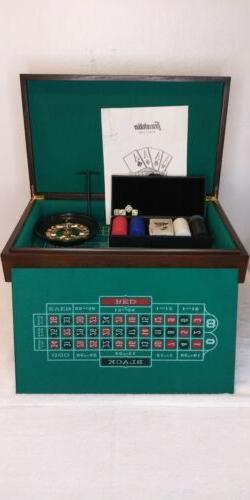 Boardgame Casino Deluxe 4 In 1 Game Set Franklin New Black J