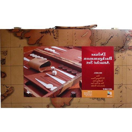 deluxe backgammon attache set