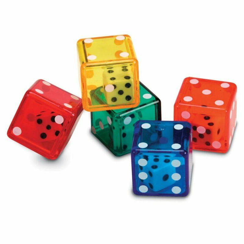 dice in dice bucket math toy manipulative