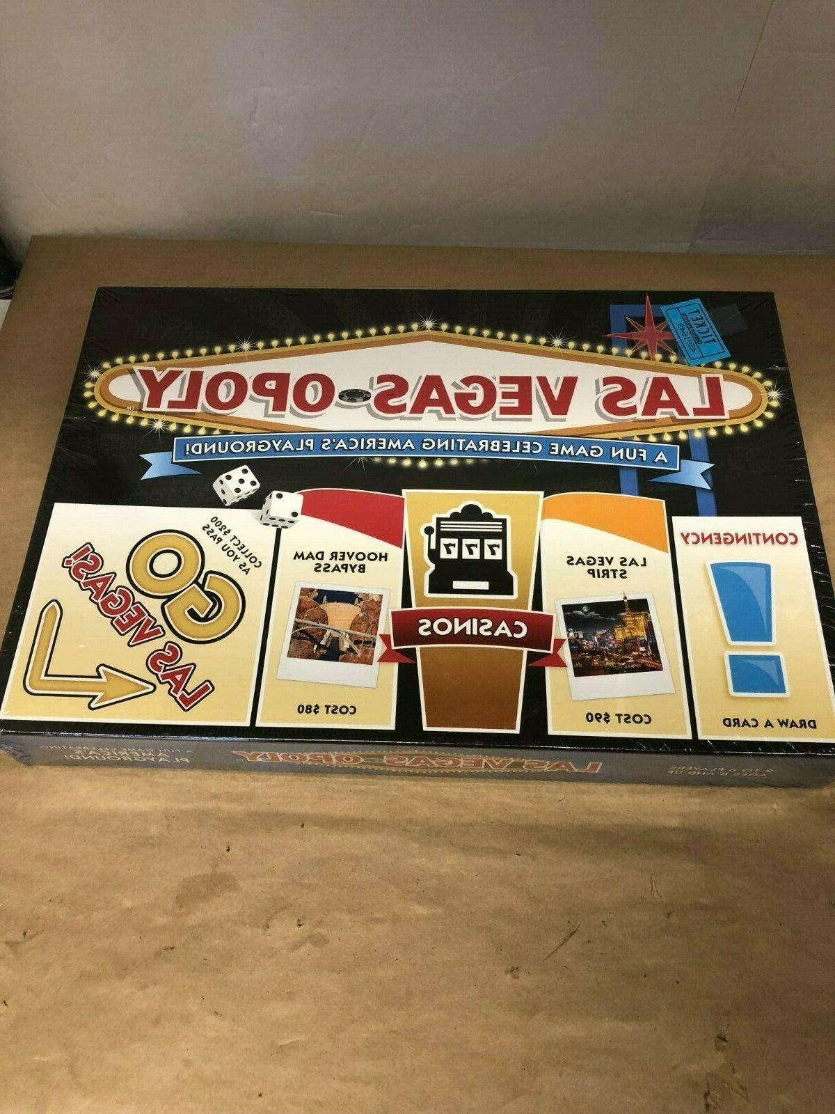 las vegas opoly board game new made