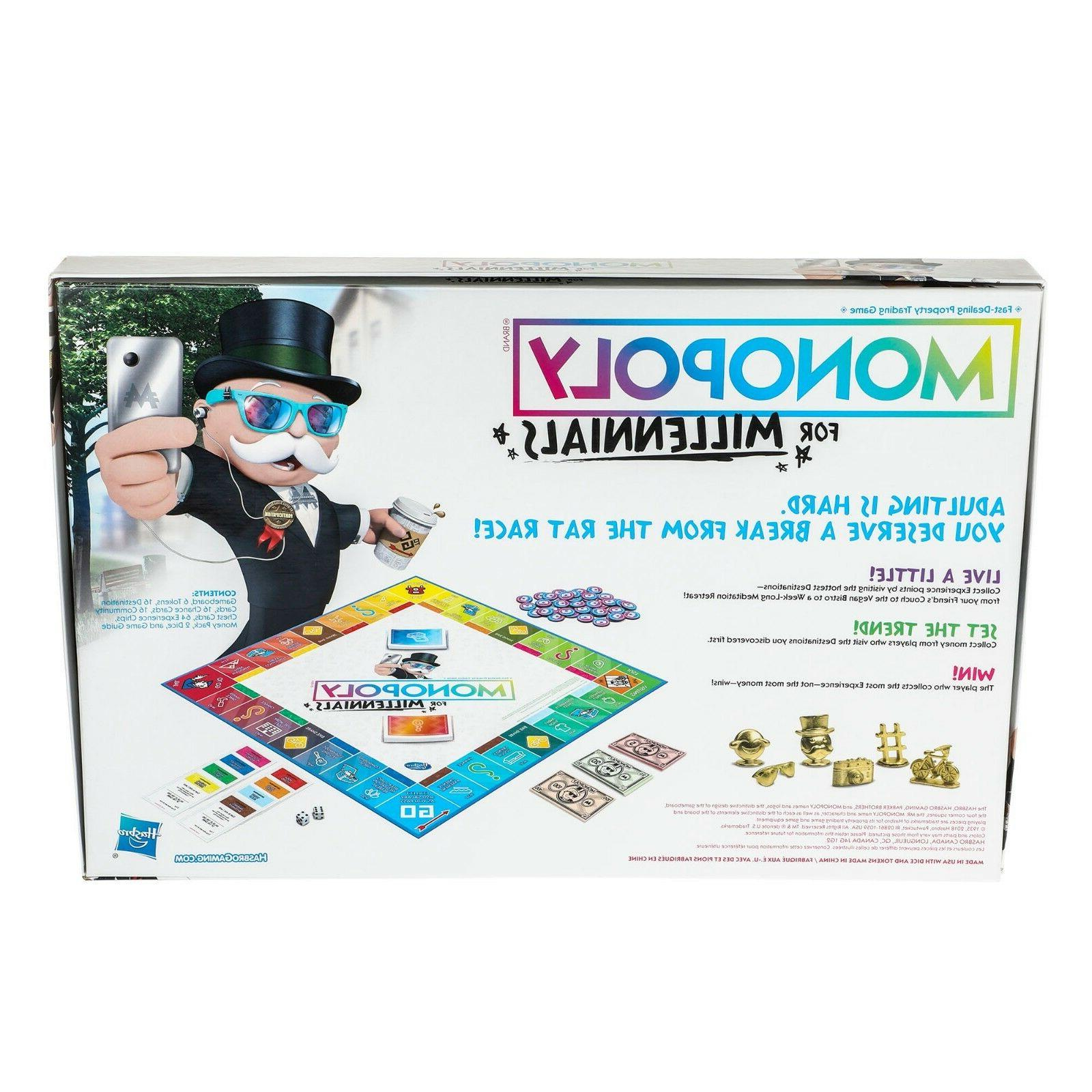 Monopoly for Millennials Board Game SEALED Hasbro