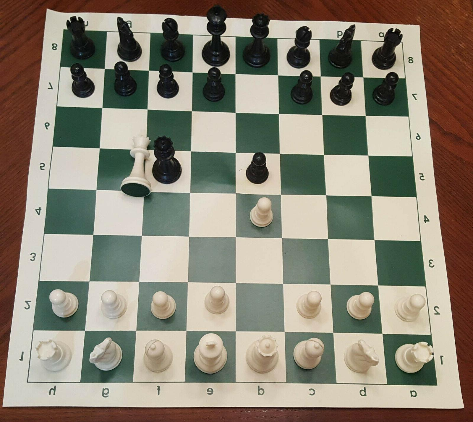 new tournament chess set basic plastic pieces