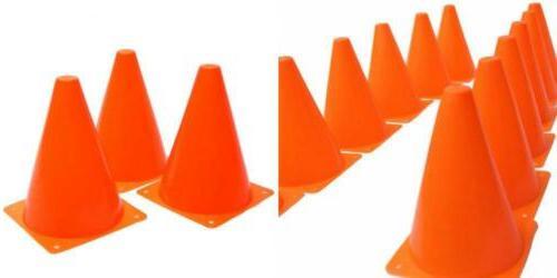 set of 12 sport training traffic cones