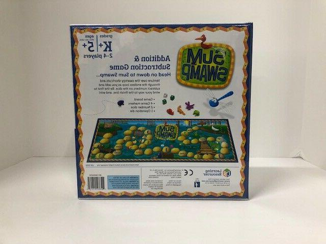 Sum Swamp Learning Resources Addition Subtraction Game - New &