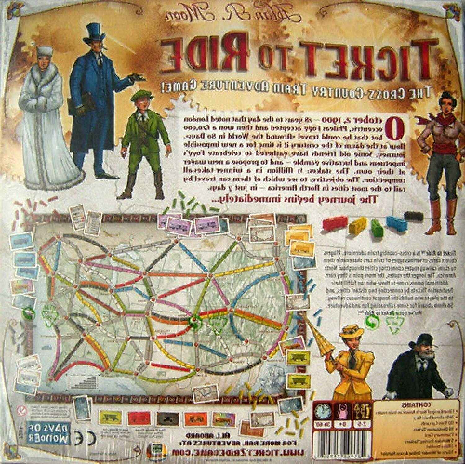 Days of Wonder To Ride by Alan R. Board Game