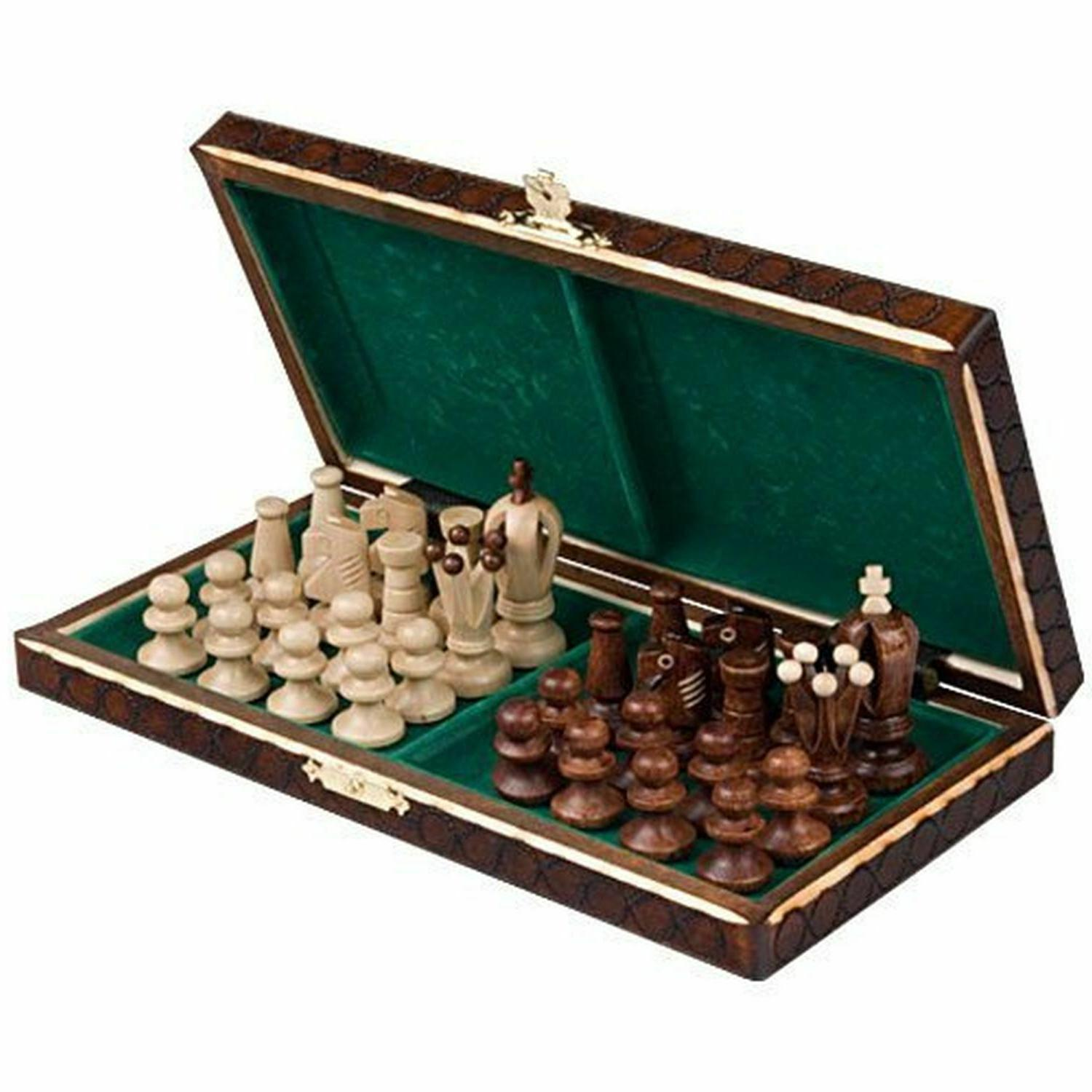 Wooden Chess Set Wood Pieces Vintage