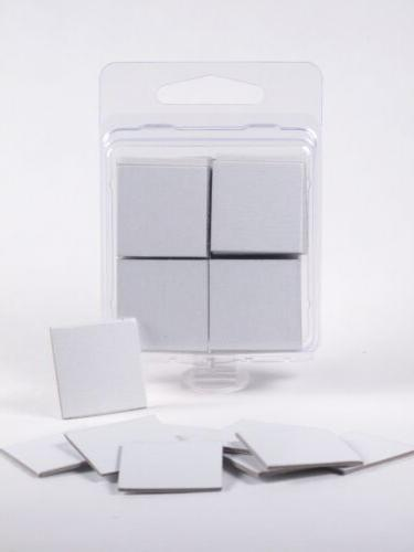 """x50 - Blank 1"""" Square Board Game Chits Tiles Counters Marker"""