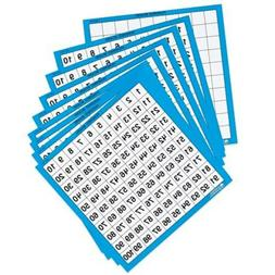 Learning Resources Laminated Hundred Boards, Dry-Erase Count