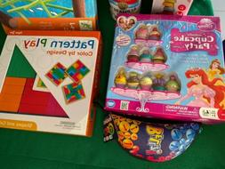 Lot of 6 Kids Board Type Games - Bellz, Tugie, Cupcake Party