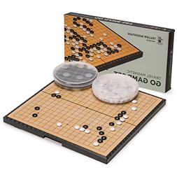 Magnetic Go Game Set with Single Convex Magnetic Plastic Sto